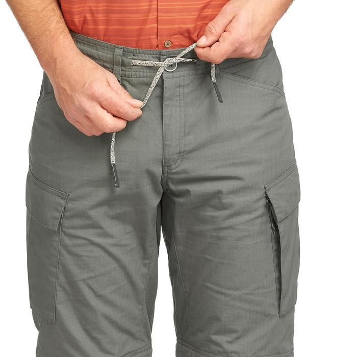 Pantalon modulable trekking TRAVEL100 homme kaki