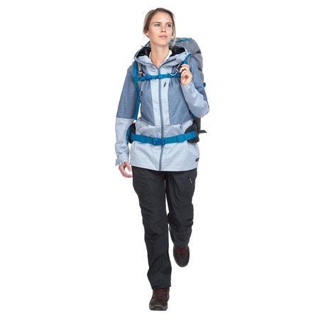 Veste randonnée VOYAGE100 compacte femme bleue