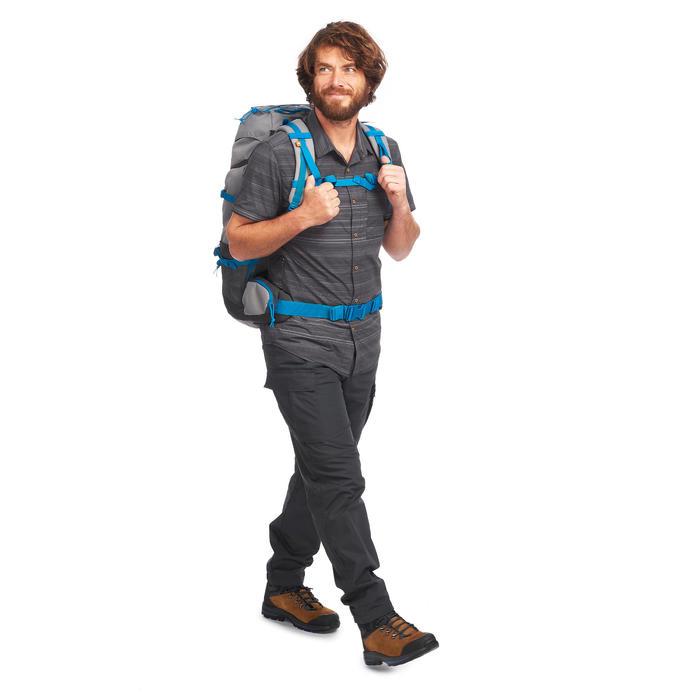 Pantalon trekking TRAVEL100 homme gris