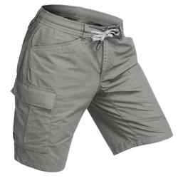 Pantalón corto trekking TRAVEL 100 hombre caqui