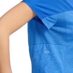 Trekkingshirt Trek 500 Damen blau