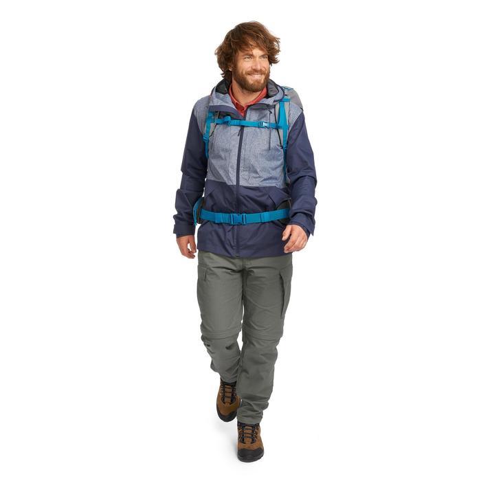 Compacte trekkingjas Travel 100 heren blauw