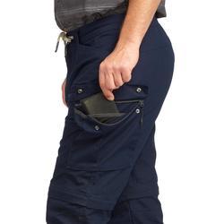 Pantalón Desmontable de Montaña y Trekking Viaje Forclaz Travel 100 Hombre Azul