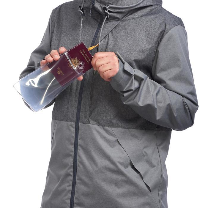 Compacte trekkingjas Travel 100 heren grijs