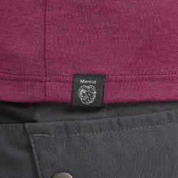 T-shirt mérinos de trek montagne - TREK 500 violet femme