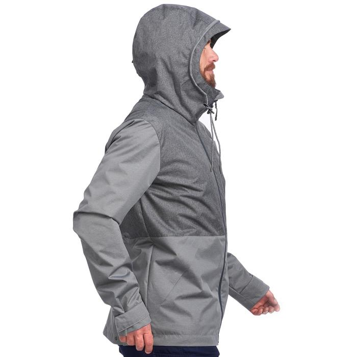 Chaqueta trekking TRAVEL100 COMPACT hombre gris