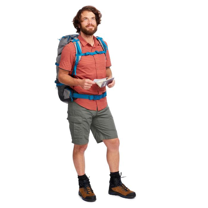 Pantalón Corto de Montaña y Trekking Viaje Forclaz Travel 100 Hombre Caqui