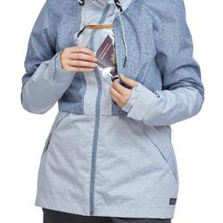 Jacke Travel 100 Compact Damen blau