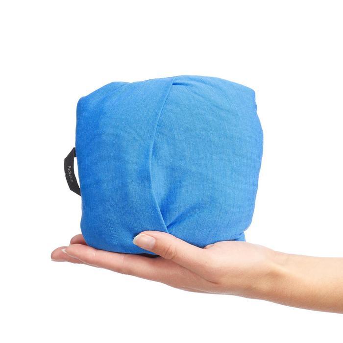 Trekkingshirt Trek 500 Merino Kurzarm Damen blau