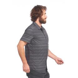 Grijs Overhemd Heren.Forclaz Overhemd Met Korte Mouwen Travel 100 Fresh Heren Grijs