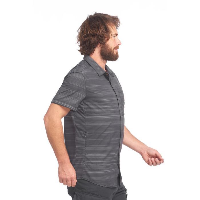 Korte Mouw Overhemd Mannen.Forclaz Overhemd Met Korte Mouwen Voor Heren Travel 100 Fresh