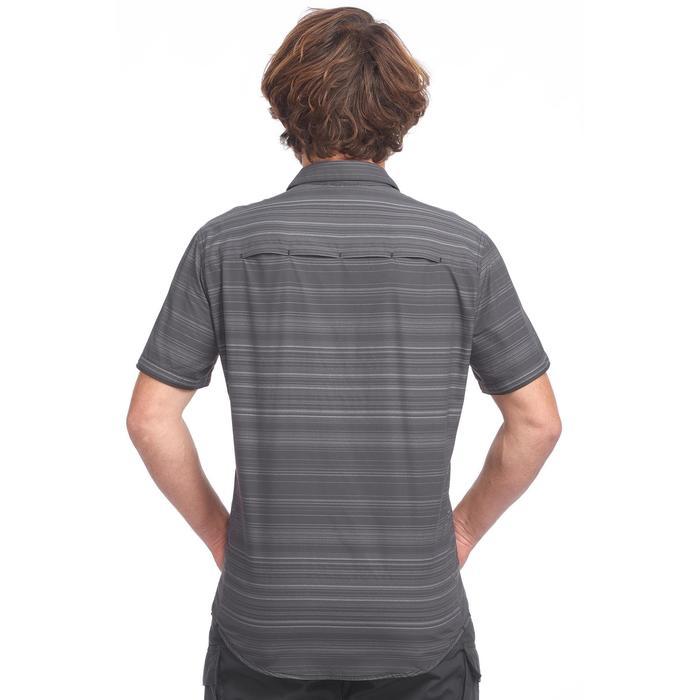 Grijs Overhemd Heren.Forclaz Overhemd Met Korte Mouwen Voor Heren Travel 100 Fresh