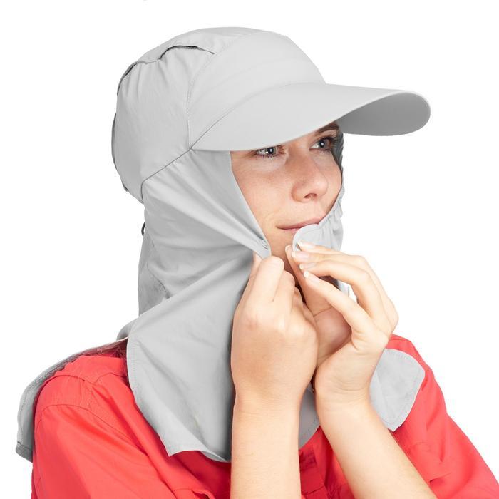 Desert Trekking UV Protective Cap Desert 500 - Grey