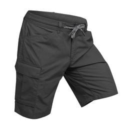 Pantalón corto trekking TRAVEL100 hombre gris