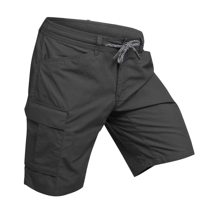 Short trekking TRAVEL100 homme gris