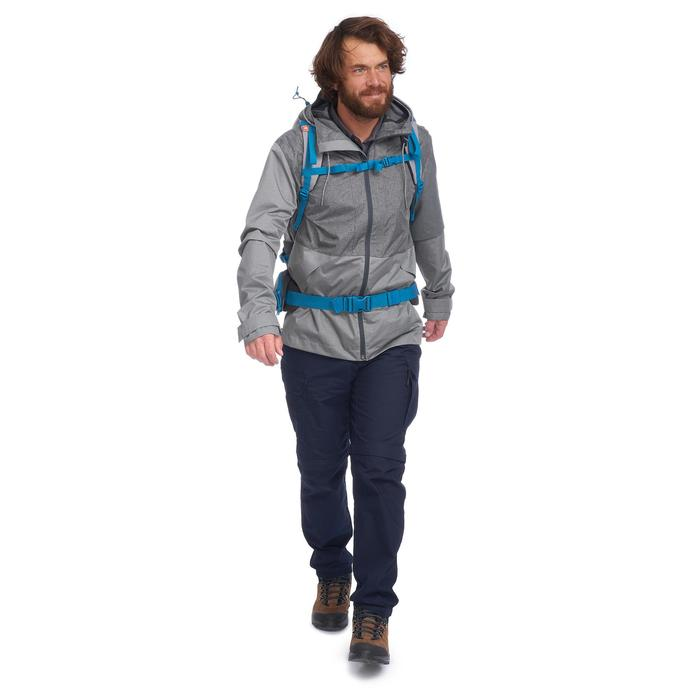 Veste trekking TRAVEL100 COMPACT homme gris