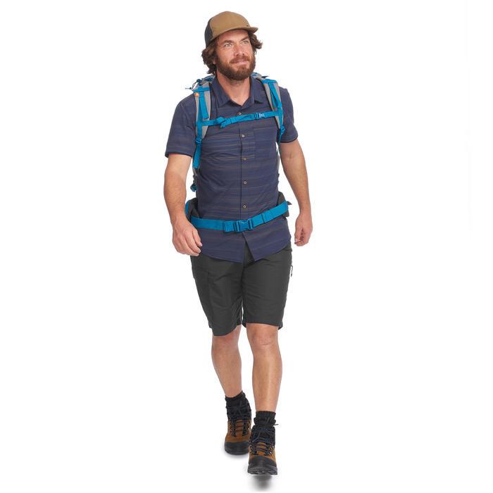Pantalón Corto Bermuda de Montaña Trekking Viaje Forclaz Travel 100 Hombre Gris
