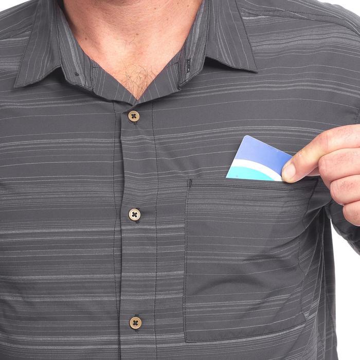 d5cc31aa35 Camisa manga corta TRAVEL100 fresh hombre a rayas gris Forclaz ...