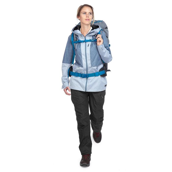 Compacte trekkingjas Travel 100 dames blauw