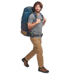 Camiseta manga corta trekking TRAVEL500 WOOL hombre caqui
