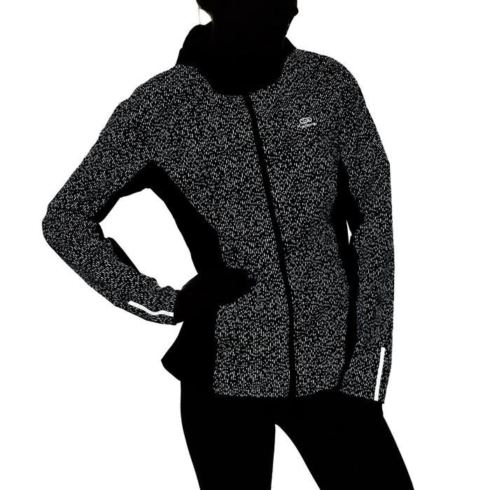 Dames regenjasje voor jogging Run Rain nachtzwart