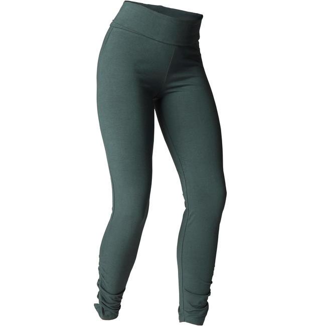 Women's Organic Cotton Gentle Yoga Leggings - Dark Green