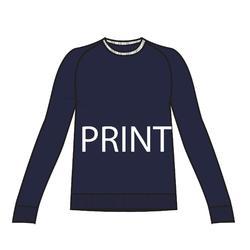 女款溫和健身與皮拉提斯運動衫500 - 軍藍色印花