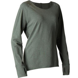 Organic Cotton Long-Sleeved Yoga T-Shirt - Green