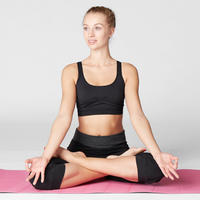 Seamless Gentle Yoga Sports Bra - Black