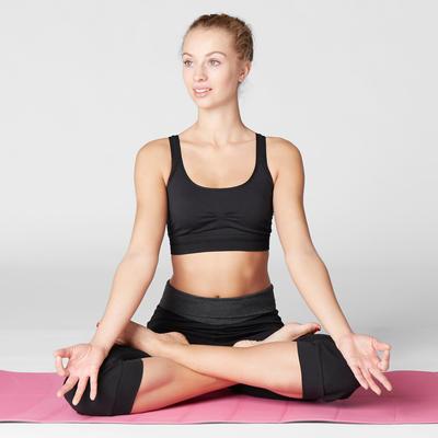 អាវទ្រនាប់កីឡា Gentle Yoga ពណ៌ខ្មៅ
