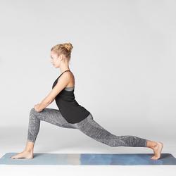 Naadloze damestop dynamische yoga zwart