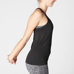 Naadloos topje voor dynamische yoga dames zwart