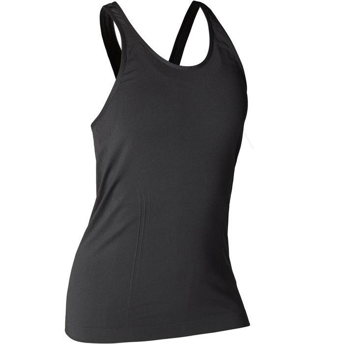 Tank-Top Yoga nahtlos Damen schwarz