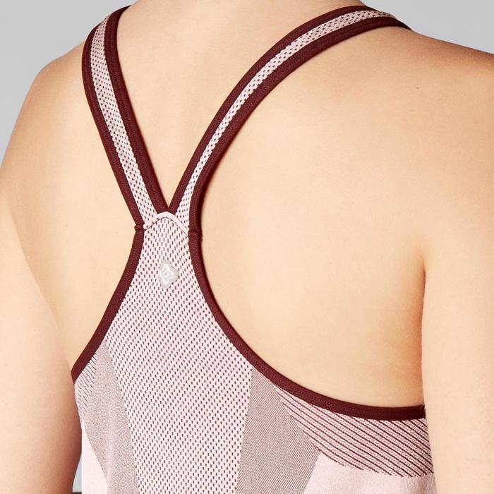Naadloze damestop dynamische yoga roze
