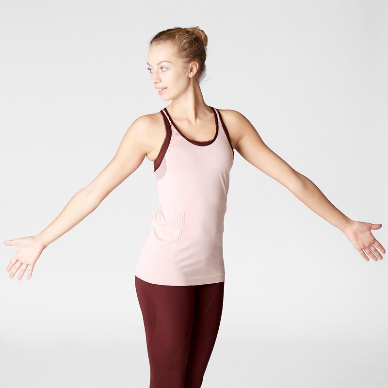 Women's Seamless Dynamic Yoga Tank Top - Pink