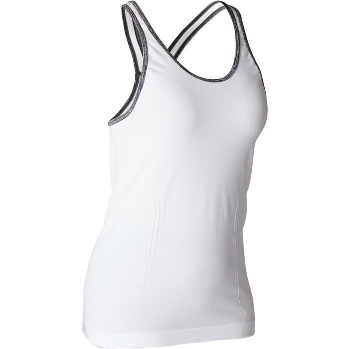 Tank-Top Yoga nahtlos Damen weiß