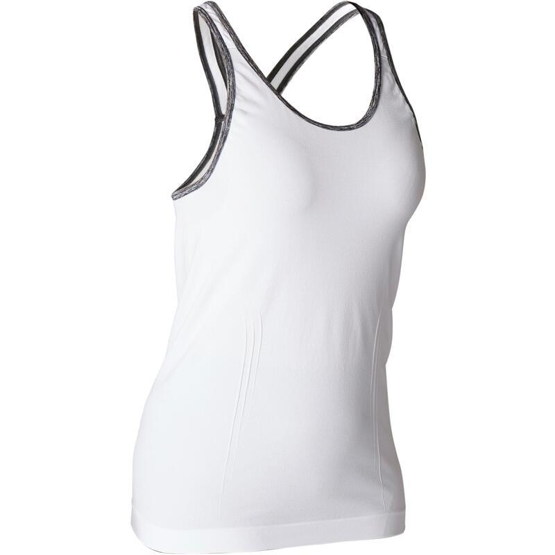 Canotta donna yoga seamless bianca