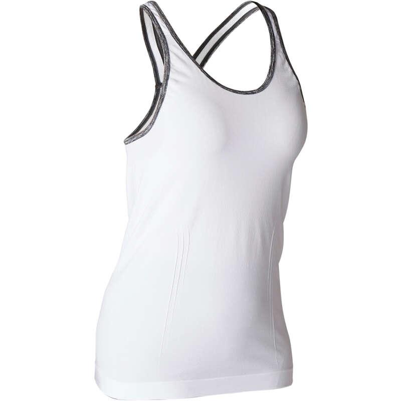 ЙОГА ЖЕН. Женская летняя одежда - Майка для йоги жен. DOMYOS - Женская летняя одежда