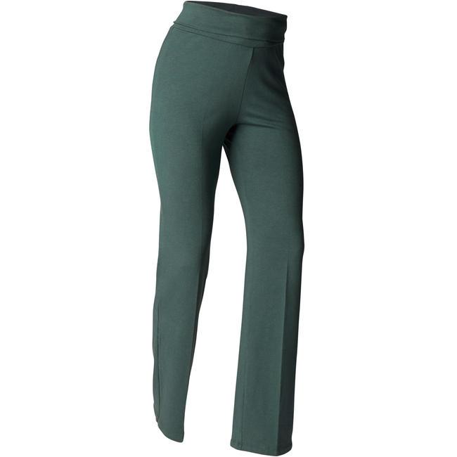 Women's Organic Cotton Gentle Yoga Bottoms - Dark Green
