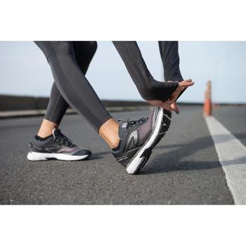 CHAUSSURE RUNNING FEMME KIPRUN LONG NOIR ARGENT