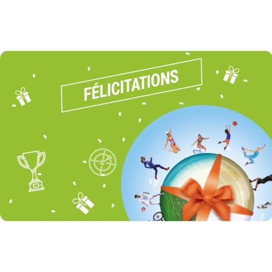 E Carte Cadeau Félicitations