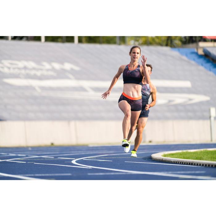 Sport-BH Bustier Damen blau/orange