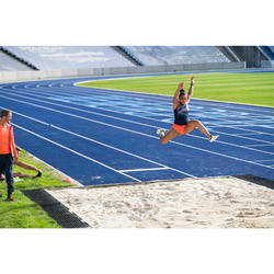 Damestop voor atletiek blauw/oranje