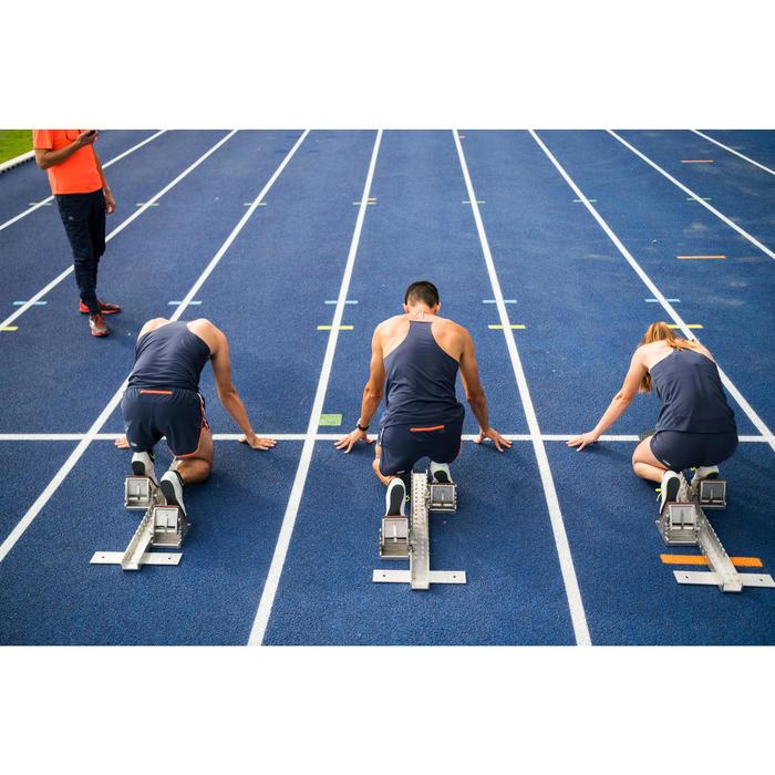 Herentop voor atletiek blauw/oranje