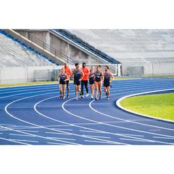 Mallas Cortas Shorts Deportivos Running Kalenji Athletics Mujer Azul/Naranja