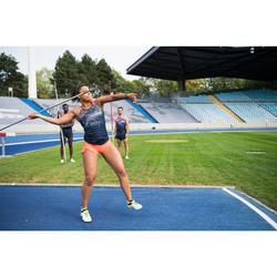 Pantalón Corto Deportivo Running Kalenji Kiprun Mujer Rojo/Azul Marino