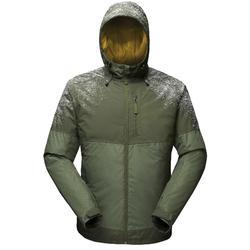 Herenjas voor sneeuwwandelen SH100 X-Warm groen.