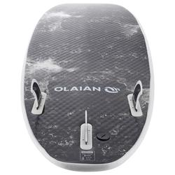 Tabla Surf Espuma Shortboard Olaian 900 6' Adulto Blanco Negro Quillas
