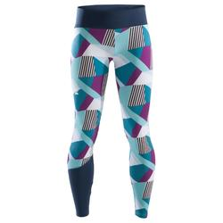 Kletter-Leggings Kinder lila/grün