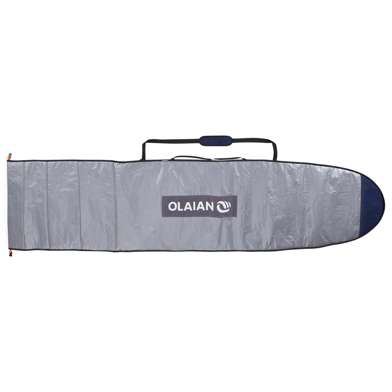 Olaian Aanpasbare boardbag voor surfboards van 7'3 tot 9'4 (221 tot 285 cm)